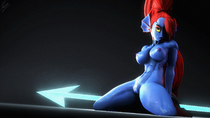 3D Blender Undertale Undyne nsfwo262 // 1920x1080 // 2.7MB // png