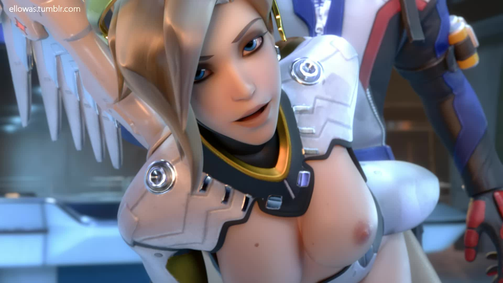 3D Animated Blender Mercy Overwatch Soldier_76 Sound ellowas // 1920x1080 // 9.6MB // webm