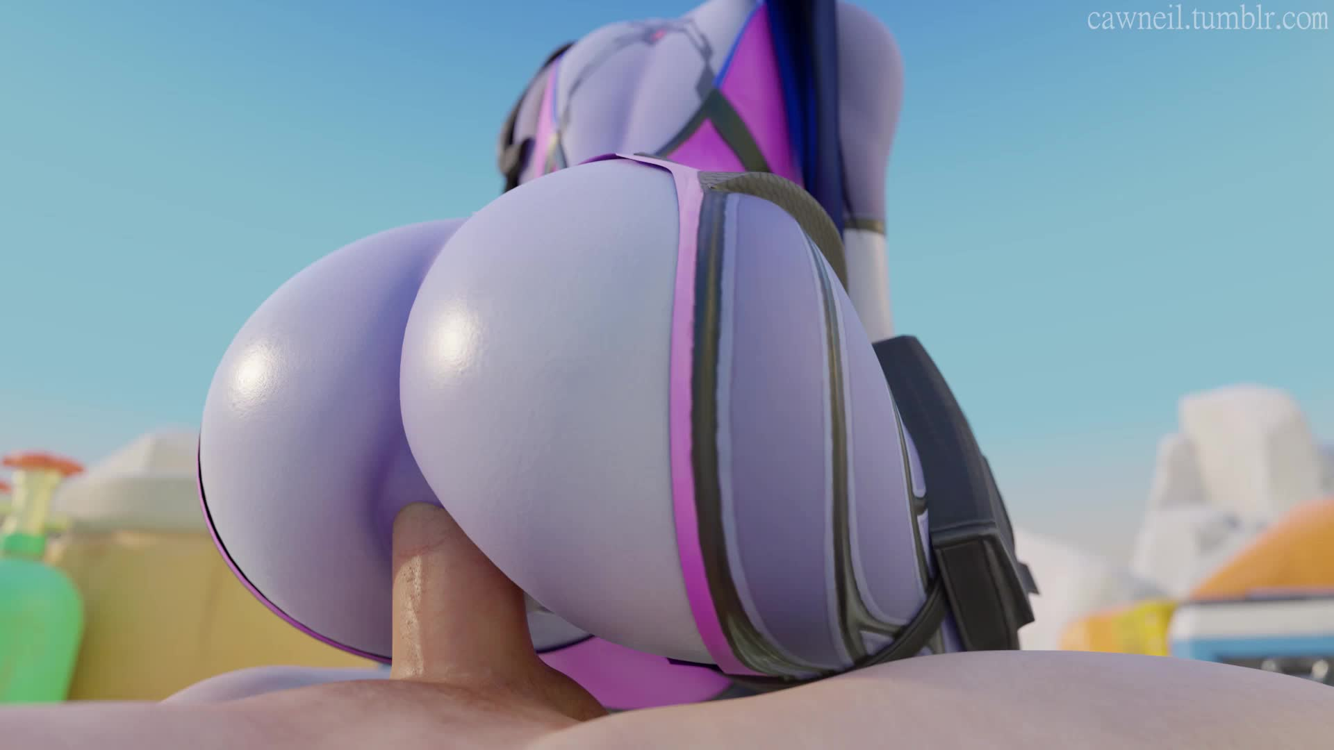 3D Animated Blender Cawneil Overwatch Sound Widowmaker // 1920x1080 // 1.6MB // webm