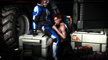 3D Commander_Shepard Femshep Mass_Effect Source_Filmmaker batarian // 3840x2160 // 1.0MB // jpg
