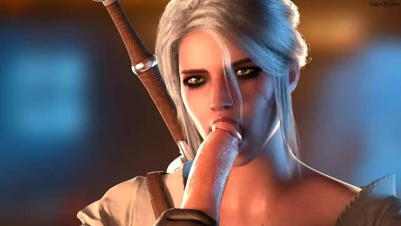 3D Animated Blender Ciri The_Witcher The_Witcher_3:_Wild_Hunt cakeofcakes // 1280x720 // 1.4MB // webm