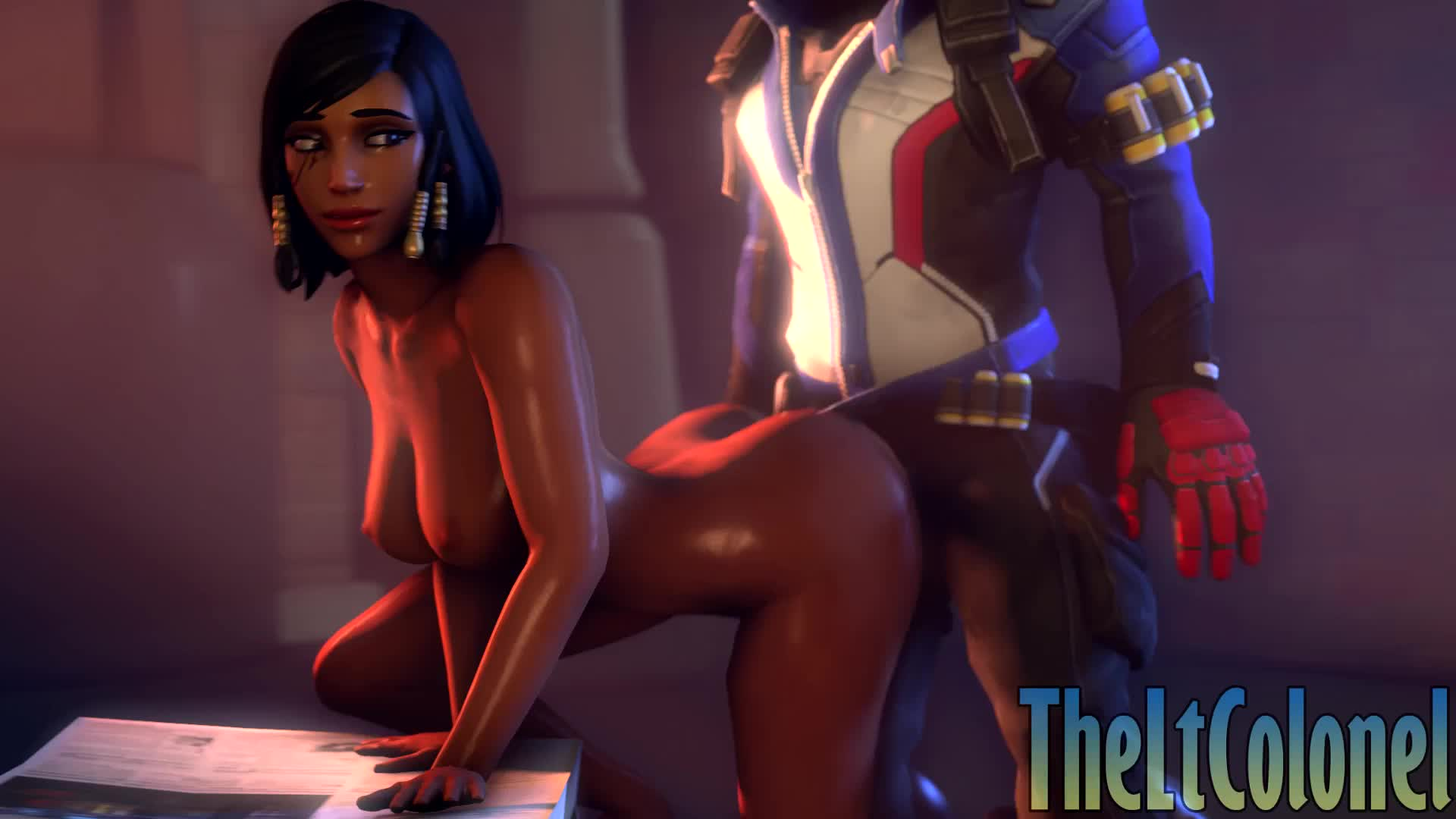 3D Animated Overwatch Pharah Soldier_76 Sound TheLtColonel // 1920x1080 // 5.7MB // webm