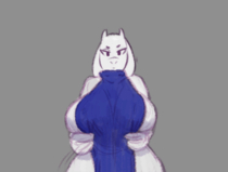 Animated Toriel Undertale chelodoy // 600x454 // 440.7KB // gif