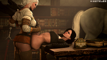 3D Ciri Source_Filmmaker The_Witcher The_Witcher_3:_Wild_Hunt Yennefer mikeymack // 1280x720 // 1.0MB // png