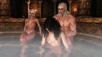 3D Ciri Geralt_of_Rivia The_Witcher The_Witcher_3:_Wild_Hunt XPS Yennefer // 3840x2160 // 1.0MB // jpg