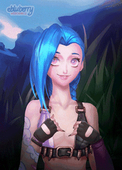 Animated Jinx League_of_Legends ebluberry // 250x349 // 6.2MB // gif