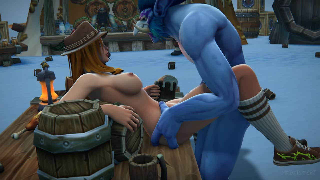 3D Animated Human_(World_of_Warcraft) Troll World_of_Warcraft medeister // 1280x720 // 4.3MB // webm